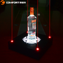LED Laser liquor display acrylic stand for vodka promotion