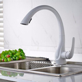 FLG single handle water saving pull out modern design kitchen faucet