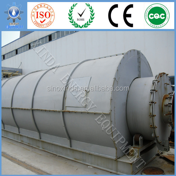 XD 6 / 8 / 10Tons Plastic Recycling / Waste Tire pyrolysis plant To Diesel Oil Unit For Industrial Fuel