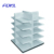 Four way retail shop display shelf, display stand