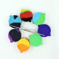 Alibaba Most Value 2 Compartment 10ml silicone jars dab wax container butane hash oil silicone container