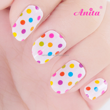 New products 2016 polka dotted design nail art tattoo double sided adhesive nail wrap free sample nail art