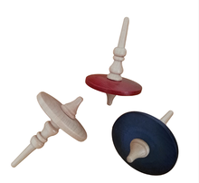 High quality wooden toy spinning top flashing peg top