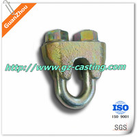 low price Forged U.S Type Wire Rope Clips OEM and custom work from China casting foundry for auto, pump, valve,railway