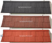 Cheap Classic stone chip coated metal roof tile,stone coated steel metal roofing tiles with low price