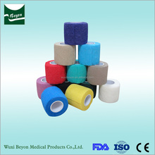 High quality surgical waterproof hospital sports self adhesive bandage