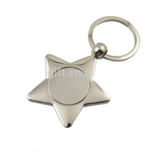 custom key holder polish metal cute star shaped keychain wholesale keychain blank keychain