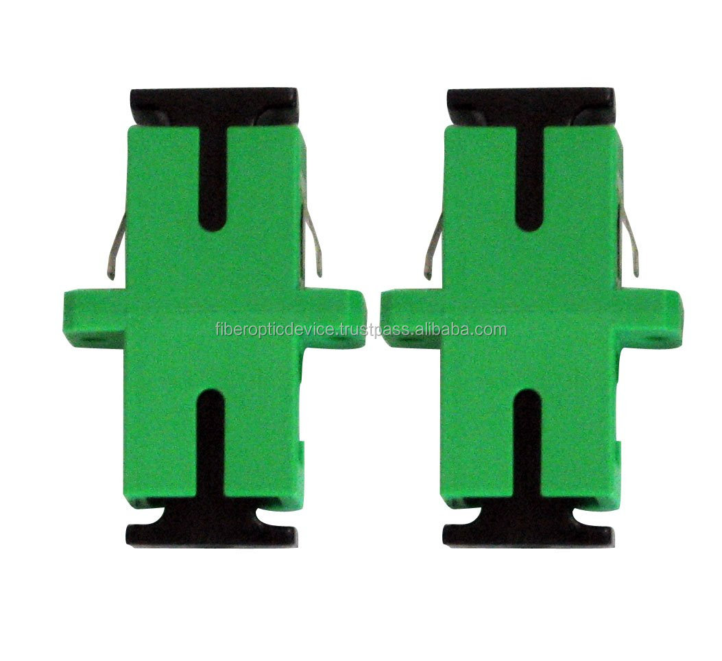 Fiber Optic Adapters Simplex Network FTTH Connectors With Inner / External Shutter Dust Cap Single Mode Duplex Optic Adaptors