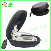 custom pu leather carrying hard eva headphone case for mp3