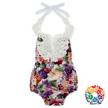 Fashion Soft Baby Cotton Clothes Baby girl Wholesale Lace sleeveless Multiple Printing Design Adult Baby Romper