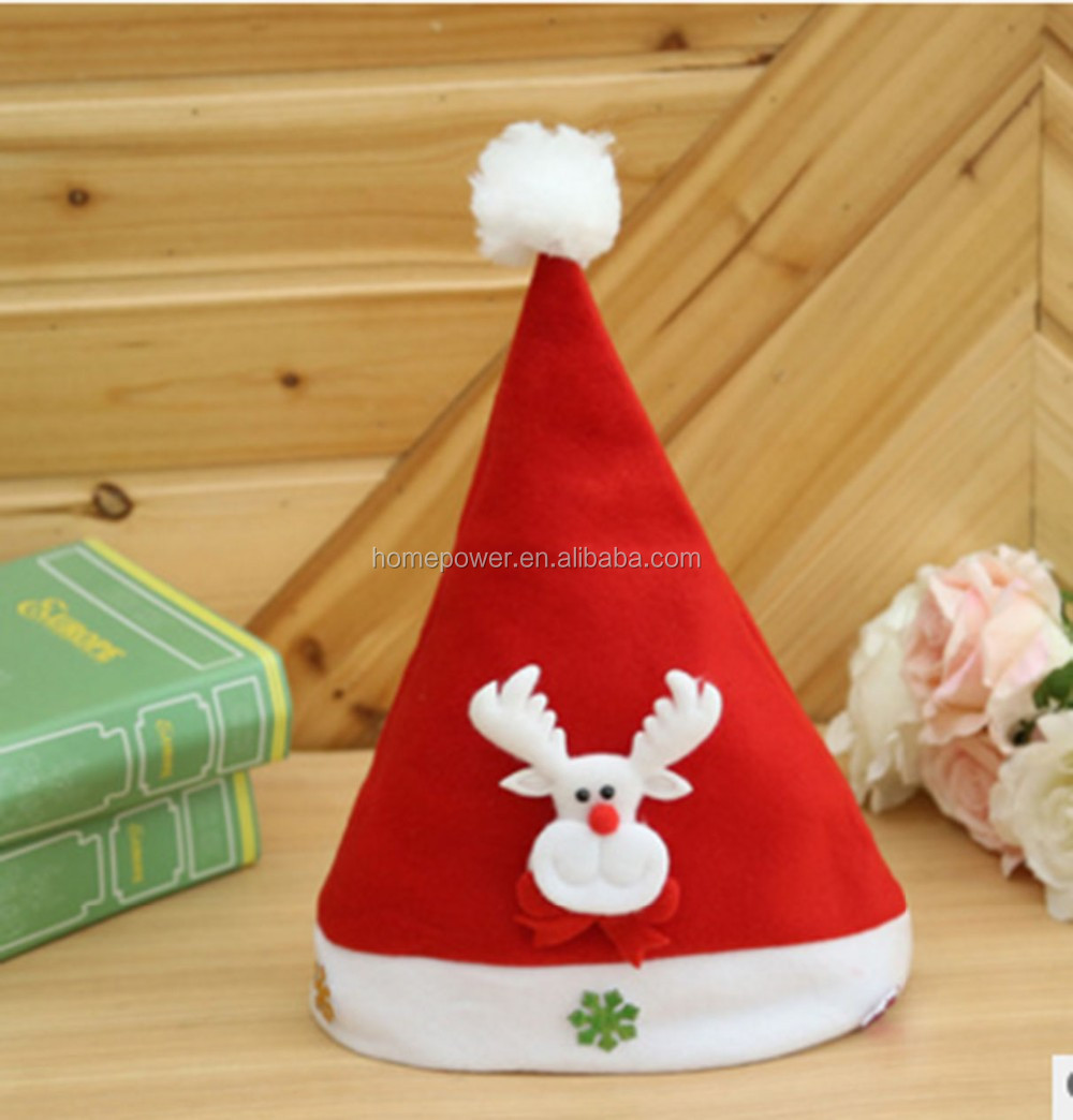 Christmas decorations shiny plush children five - pointed star Christmas hat toys wholesale gift stall hot supply