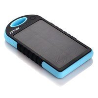 5000mAh solar powered bank waterproof travel partner solar mobile charger with dual USB port