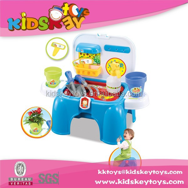 New product plastic funny Kids toys gardening tool garden chair