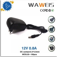 AC DC adapter 12v 0.8a charger For Strip LED,Hair clipper