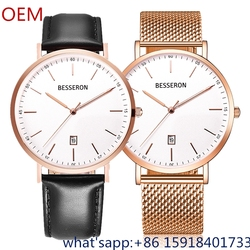 brand name watch stainless steel watches oem branded details quartz date watches classic deisgn your name wristwatch custom logo