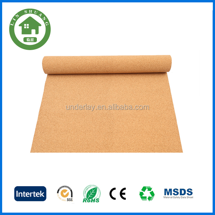 natural cork sheet underlayment , bamboo flooring underlay