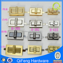 Hot sell designer bag locks and clasps,bag twist lock custom pad lock for wallet, bag accesssories
