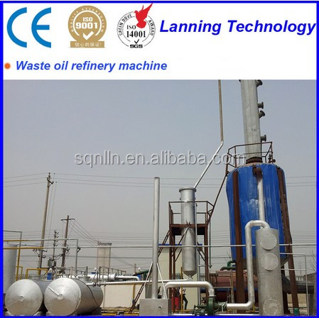 High Tech running well waste tyre oil distillation plant with CE certified