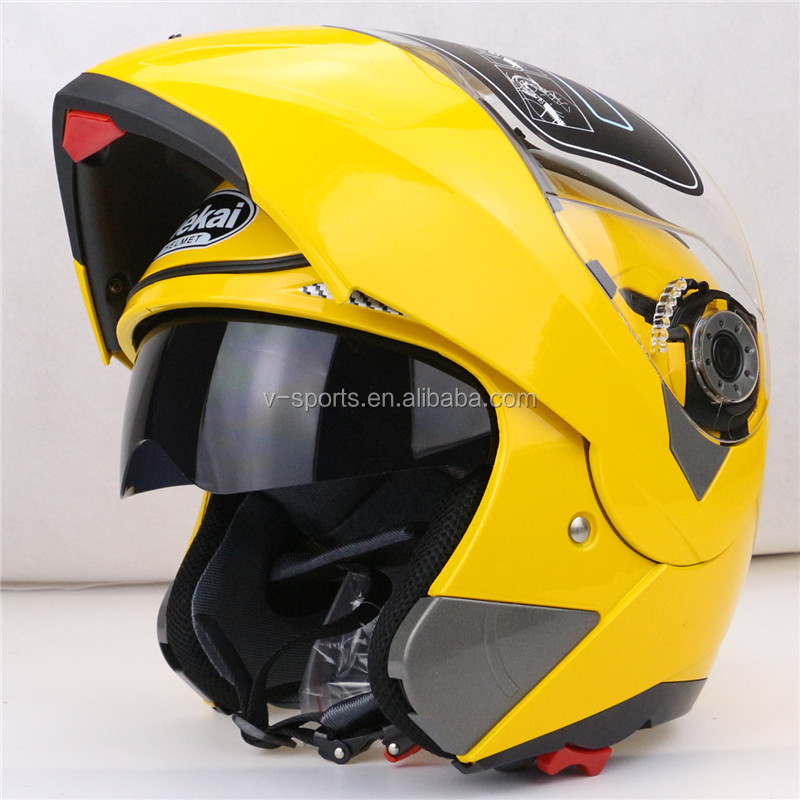 Best Sales Safe full face helmet motorcycle helmet Flip up helmet with inner sun visor everybody affordable Size:M, L, XL,XXL
