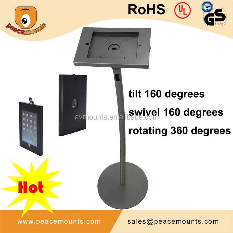 Swivel Tilt Rotated Adjustable Security Android Tablet Kiosk Stand
