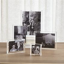 Acrylic Picture Frame Wall Mount Double Side Glass Picture Frame