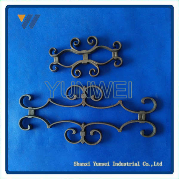 Customized Chinese Top Quality Wrought Iron Color Steel Fence Panel