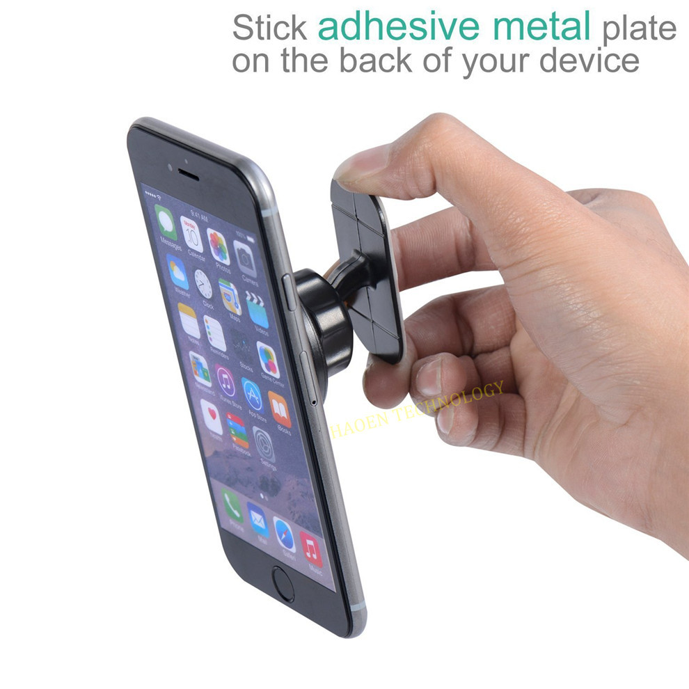 Magnetic Phone Mount Universal Stick On Flat Dashboard Magnetic Car Mount Holder for Cell Phones
