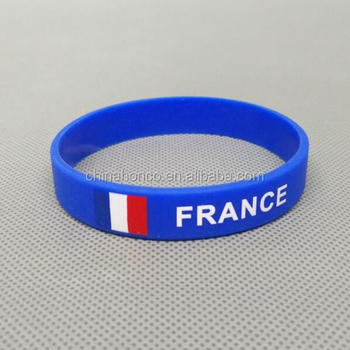 france silicone wristband french silicone bracelet