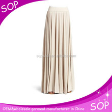 Plain wholesale indian maxi skirt long for ladies summer