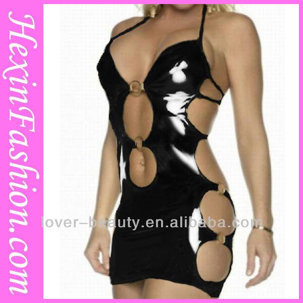 Wholesale Hot Sexy pvc Dress Tight Lingerie