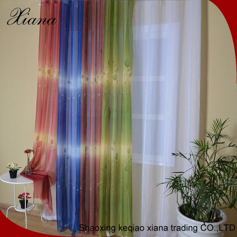 100% polyester bronzing white sheer curtain