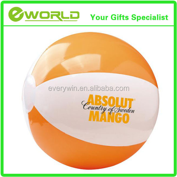 6P Free Print Logo PVC Inflatable toy Ball Advertising Beach Ball