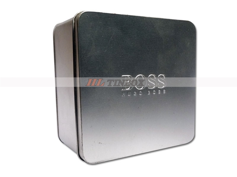 High Quality Perfume Packing Metal Tin Box without Printing