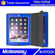 For ipad 2 & 3 & 4 rugged case for kids, auto sleep & wake feature stand case for ipad 234 generation