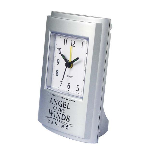 Silver custom clock face table alarm clock plastic clock