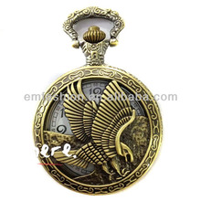 Fashion New High Quality Old Fashion Quartz Movement Flying Eagle Pocket Watch