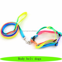 Nylon braided rope, body belt for dogs