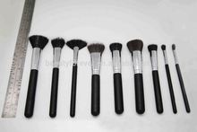 traveling makeup brush set kit 9pcs mini essential cosmetic brushes with cup holder