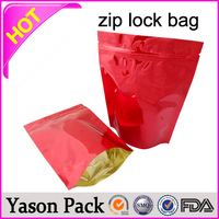 YASON zipper stand up bag food storage ziplock bag industrial zippers and sliders