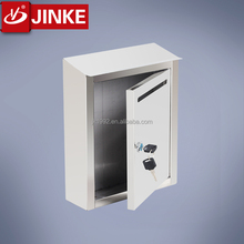 Apartment Buildings Wall Mounted Square Stainless Steel Post letter box/mailbox