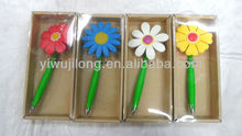 New Design Bendy Promotion Sunflower Pen flexible print pen