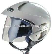 Huadun popular silver high quality open face motorcycle helmet for scooter
