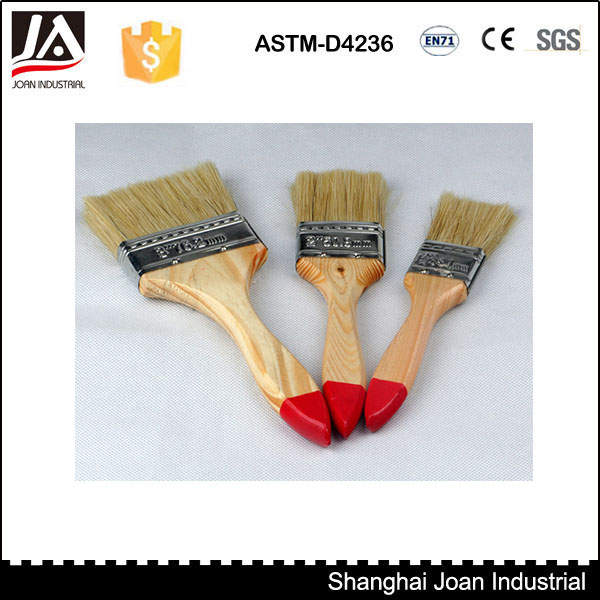 Wooden handle high elasticity bristle paint brush