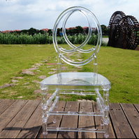 Clear resin phoenix chair pc wedding chair