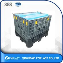 empty collapsible plastic pallet container for shipping