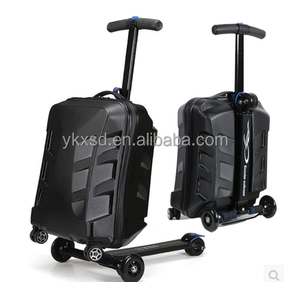 good design suitcase scooter/suitcase wheels/carbon fiber suitcase