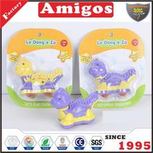 newest product Friction dinosaur purple/yellow animal toy factory