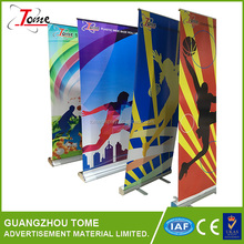 Low cost and elegant Aluminum roll up banner stand banner stands with printing service