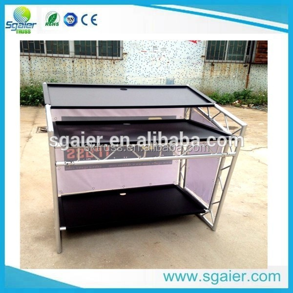 Hot sale Aluminum portable folding bar counter mat dj bar table with wheels