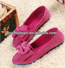 2013 Pretty Steps PU lovely casual girl's paprika flat shoes